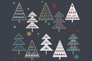 Chalkboard Christmas Tree Set