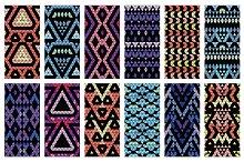 32 Aztec seamless patterns+bonus