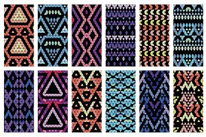 32 Aztec seamless patterns+bonus