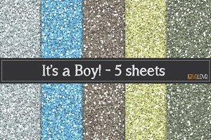 It's a Boy Glitter Paper