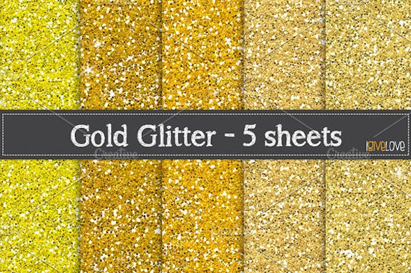 gold glitter paper pack textures