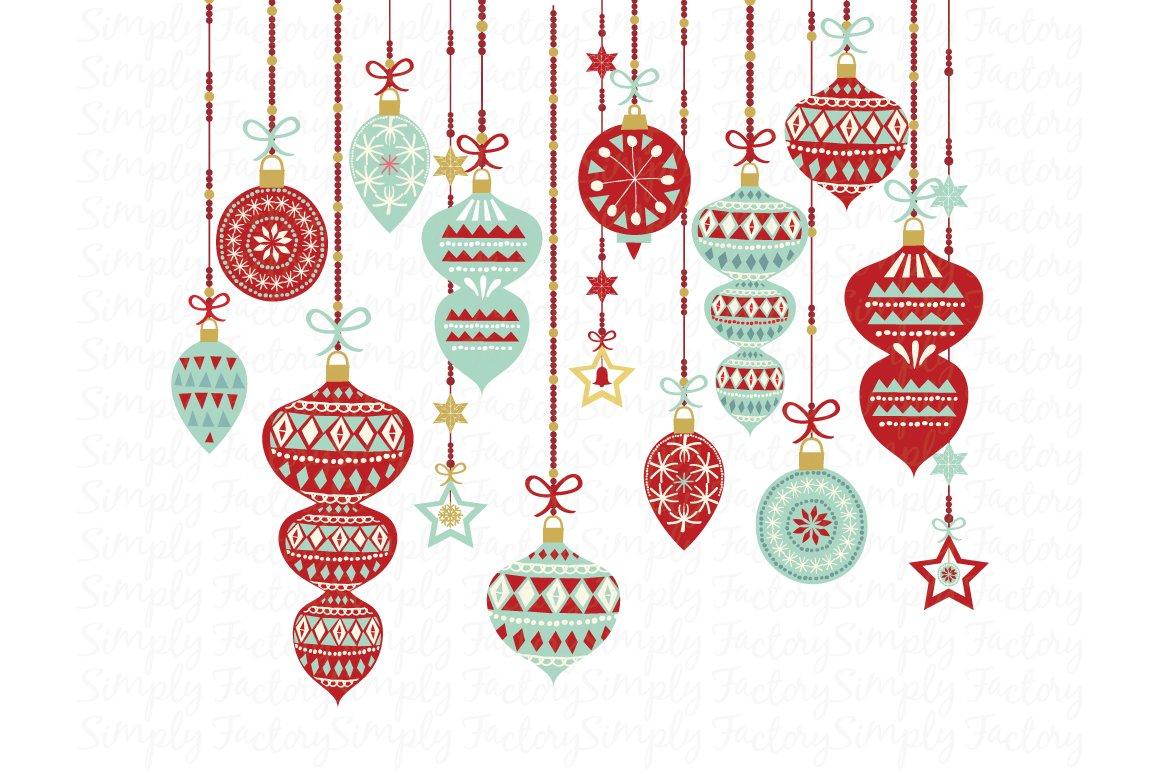Vintage Christmas Ornament Illustrations Creative Market