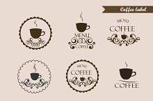 Coffee label, logo