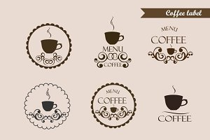 Coffee label, logo