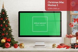 Christmas iMac Mockup 1