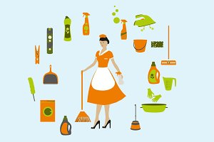 Maid and Cleaning supplies