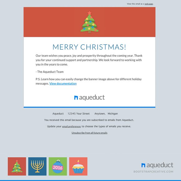 Holiday Email Template Mailchimp Email Templates Creative Market - Mailchimp holiday templates