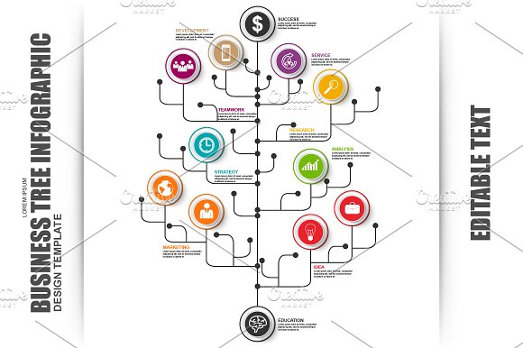 Business tree timeline infographic presentation templates business tree timeline infographic presentation templates creative market flashek Images