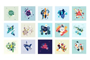 Abstract geometric backgrounds.