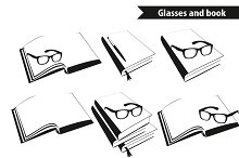 Reading glasses and book set