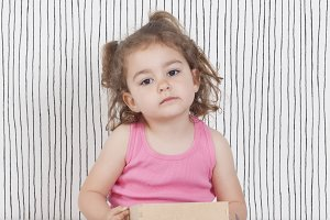 Girl and box