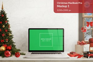 Christmas MacBook Pro Mockup 1