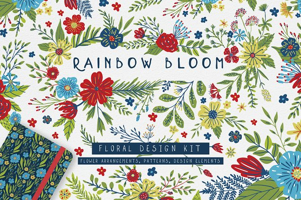 Rainbow Bloom - Floral Collection