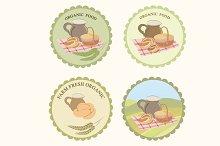 Farm food label set