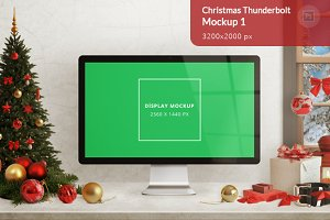 Christmas Thunderbolt Mockup 1