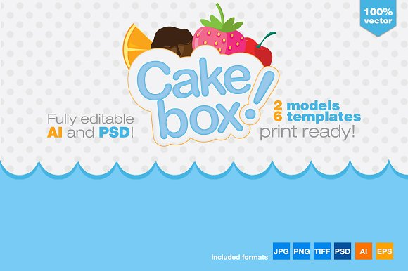 gift box packaging cake template templates creative market