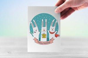 Cute festive bunnies