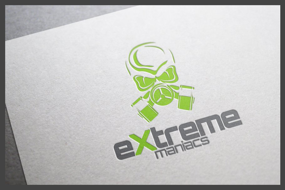 Extreme Maniacs Logo Template in Logo Templates