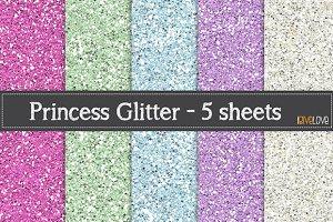 Princess Glitter Paper Pack