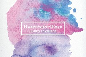 WatercolorWash Textures-Best Seller!