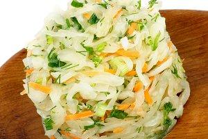Sauerkraut with Greens