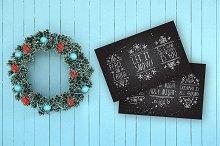 Merry Christmas - handdrawn elements