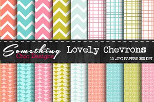 Lovely Chevron Digital Backgrounds