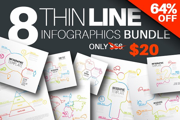 THIN Line Infographic Bundle