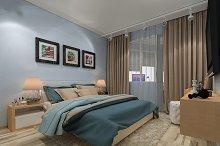3d rendering design modern bedroom