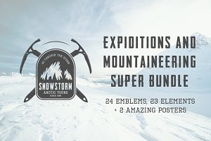 Expiditions and mountaineering logos