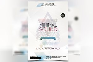 Sound - Minimal PSD Flyer