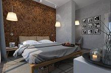 3d render design modern bedroom