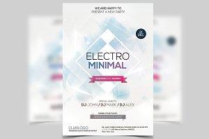 Electro Minimal - PSD Flyer