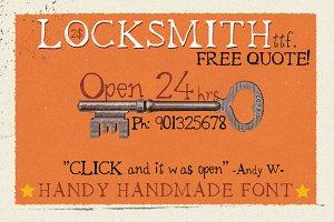 Locksmith Font - Sale