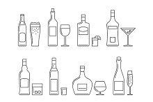 Drinks line icon