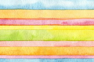 Abstract strip watercolor paint