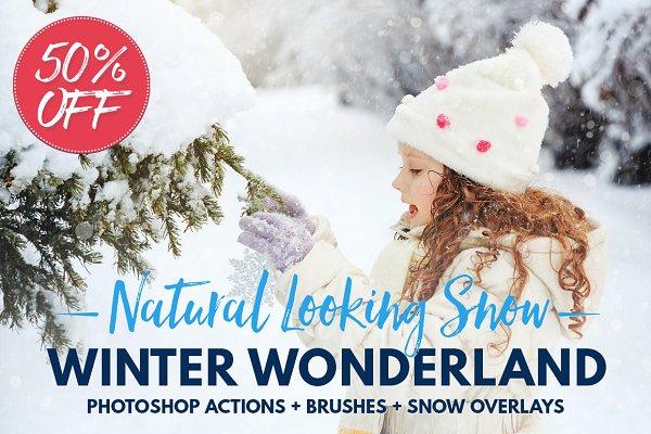 Snow Photoshop actions overlay brus…