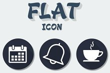 Simple Flat icon Pack