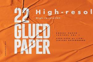 Glued Paper V2 Texture Background
