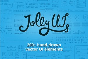 Jolly UI Kit: Hand-drawn UI elements