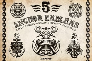 Marine Anchor Logos