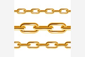 Chain Gold and Metal. Vector