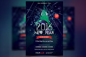 2016 New Year - PSD Flyer