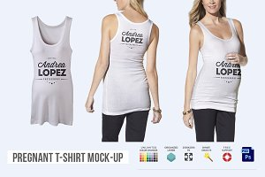 Pregnant T-shirt Mock-up