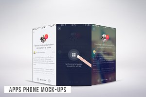Apps Phone Mock-ups