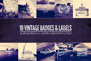 Vintage Labels & Badges Vol.1