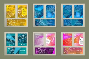 Set template with abstract design