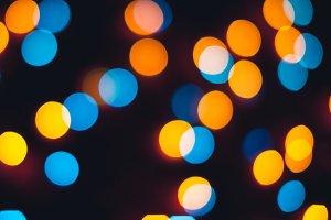 Bokeh. Christmas and New Year lights