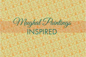 Mughal Paintings Inspired Pattern