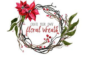 Create Your Own Winter Floral Wreath